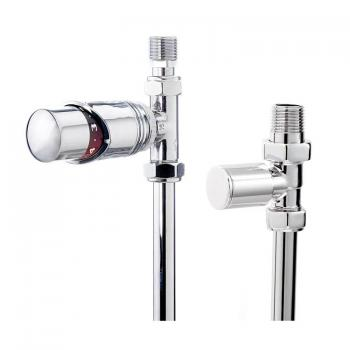 Phoenix Thermostatic Chrome Straight Radiator Valves
