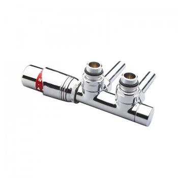 Pheonix Thermostatic Chrome Angled Twin Radiator Valve