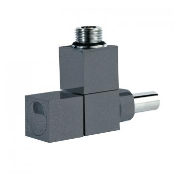 Phoenix Square Angled Anthracite Radiator Valves