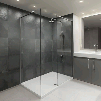 Elite 1700 Walk In Shower Enclosure & Tray