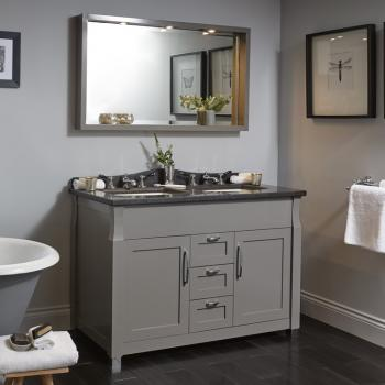 Imperial Radcliffe Westbury Twin Vanity Unit With Three Drawers