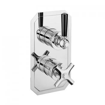 Crosswater Waldorf Black Lever Slimline Shower Valve With 2 Way Diverter
