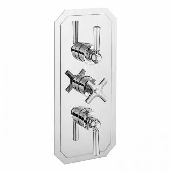 Crosswater Waldorf Chrome Lever 3000 Shower Valve With 3 Way Diverter