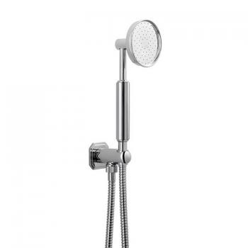 Crosswater Waldorf Shower Handset With Chrome Handle, Wall Outlet & Hose