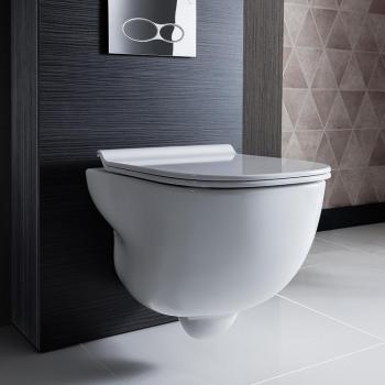 Bauhaus Wild Rimless Wall Hung WC & Soft Close Seat