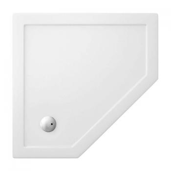Zamori 1000 x 1000mm Pentangle 35mm Shower Tray & Waste