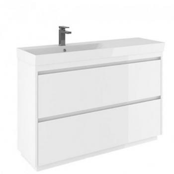 Bauhaus Zion White Gloss 1200mm Floorstanding Vanity Unit & Basin