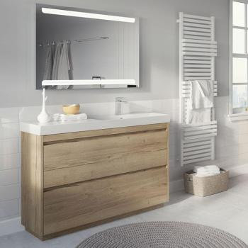 Bauhaus Zion Windsor Oak 1200mm Floorstanding Vanity Unit & Basin