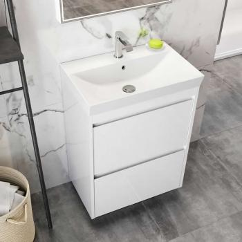Bauhaus Zion White Gloss 700mm Floorstanding Vanity Unit & Basin