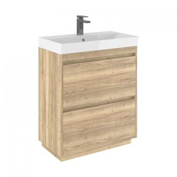 Bauhaus Zion Windsor Oak 700mm Floorstanding Vanity Unit & Basin