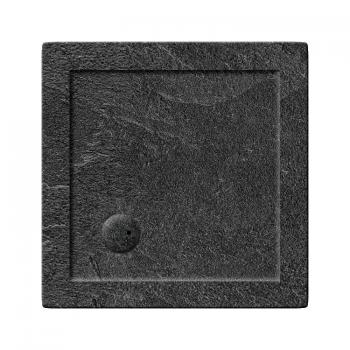 Zamori 800 x 800mm Square Slate Effect 35mm Shower Tray & Waste