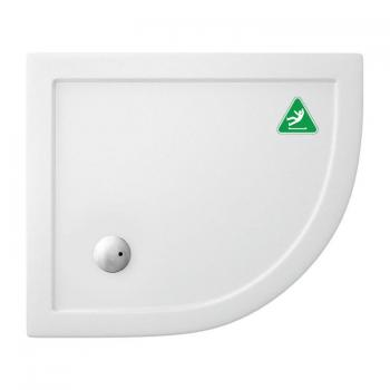 Zamori 900 x 800mm Anti Slip Offset Quadrant 35mm Shower Tray & Waste