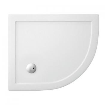 Zamori 900 x 760mm Offset Quadrant 35mm Shower Tray & Waste