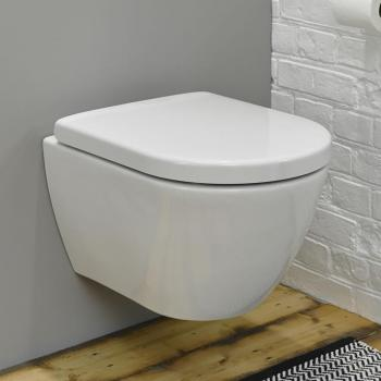Zero Compact Wall Hung Toilet with Soft Close Seat