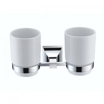 Heritage Chancery Chrome Double Tumbler & Holder