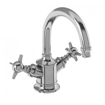 Arcade Chrome Dual Crosshead Basin Mixer