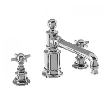 Arcade Chrome 3 Tap Hole Basin Mixer