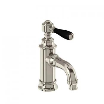 Arcade Nickel Mini Mono Basin Mixer With Black, White Or Nickel Lever
