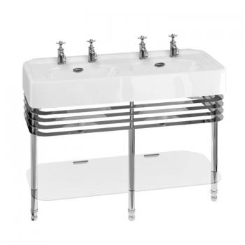 Arcade 1200mm Double Basin With Chrome Wash Stand