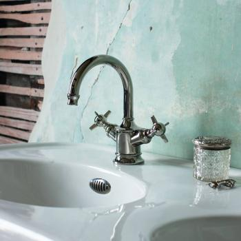 Arcade Nickel Dual Lever Basin Mixer