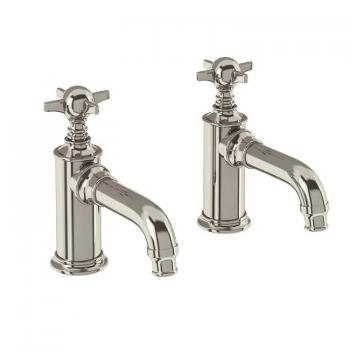 Arcade Nickel Basin Pillar Taps