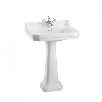 Burlington Edwardian Large 61cm Basin With Pedestal