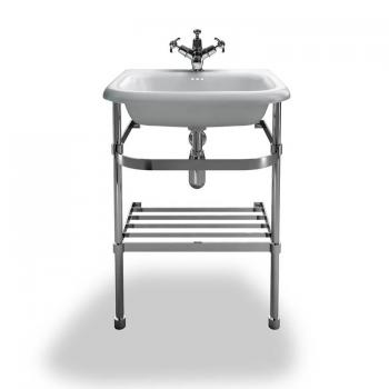 Clearwater Natural Stone Small Traditional Basin With Wash Stand