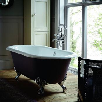 Heritage Baby Buckingham Freestanding Cast Iron Roll Top Bath & Feet