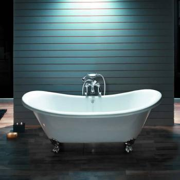 BC Designs Excelsior Acrylic Freestanding Bath With Polished Feet