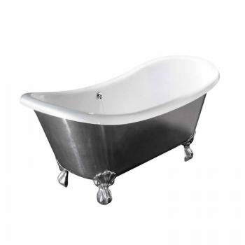 BC Designs Excelsior Polished Aluminium Freestanding Bath With Feet