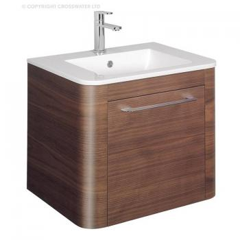 Bauhaus Celeste 600mm American Walnut Vanity Unit & Basin