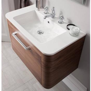 Bauhaus Celeste 800mm American Walnut Vanity Unit & Basin
