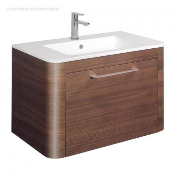 Bauhaus Celeste 800mm American Walnut Vanity Unit & Ceramic Basin