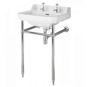 Bayswater Fitzroy 515mm Cloakroom Basin & Chrome Wash Stand