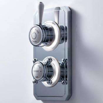 Crosswater Belgravia Lever Dual Outlet Digital Shower Valve - High Pressure