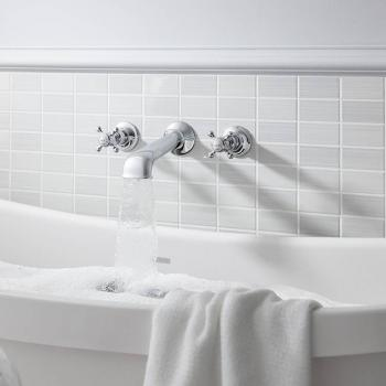 Crosswater Belgravia Crosshead Wall Mounted Bath 3 Hole Set
