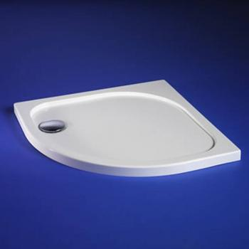 Blu-Gem2 800mm x 800mm Quadrant Shower Tray & Waste