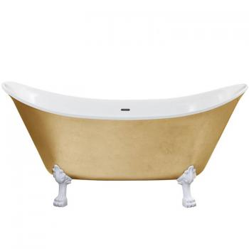 Heritage Lyddington Gold Effect Freestanding Acrylic Bath & Feet