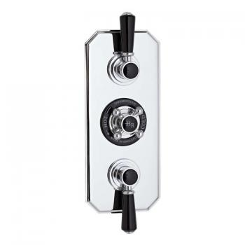 Hudson Reed Topaz Black Triple Concealed Thermostatic Shower Valve