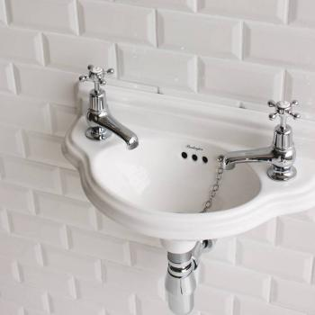 Burlington Curved Cloakroom Wall Mounted Basin
