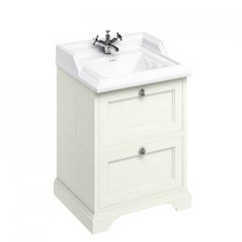 Burlington Sand 670mm Freestanding Vanity Unit With Drawers & Classic Basin