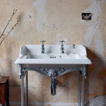 Burlington Classic Basin With Polished Aluminium Wash Stand