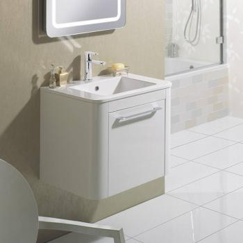 Bauhaus Celeste 600mm White Gloss Vanity Unit & Basin