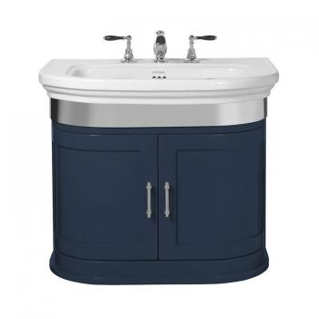 Imperial Carlyon Thurlestone Moseley Blue Curved Vanity Unit & Basin