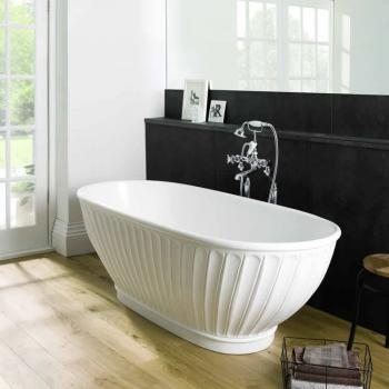 BC Designs Casini Cian Solid Surface Freestanding Bath