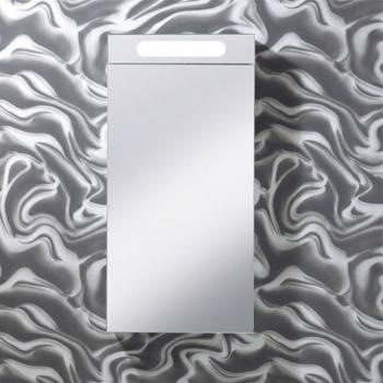 Bauhaus Electric 400mm Aluminium Bathroom Mirror Cabinet