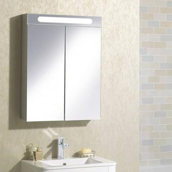 Bauhaus Electric 600mm Aluminium Mirror Cabinet