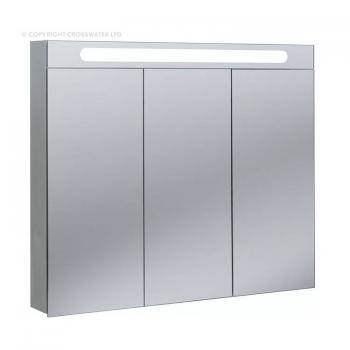 Bauhaus Electric 950mm Aluminium Mirror Cabinet