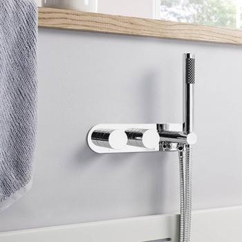 Crosswater Central Thermostatic Shower Valve With Handset