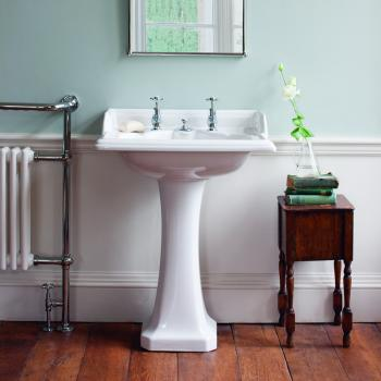 Burlington Classic Basin with Invisible Overflow and waste with Pedestal